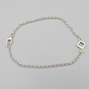 Vintage 925 silver quatrefoil bracelet